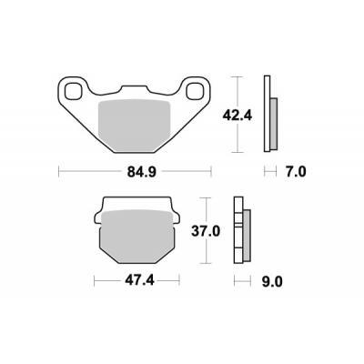 Plaquettes de frein SBS carbone silver 544CS