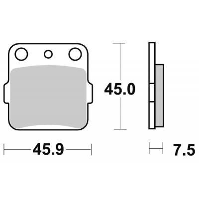 Plaquettes de frein SBS carbone silver 592CS