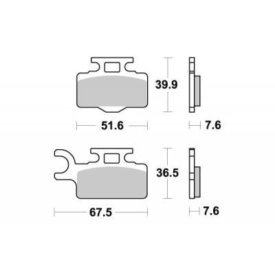 Plaquettes de frein SBS carbone silver 752CS
