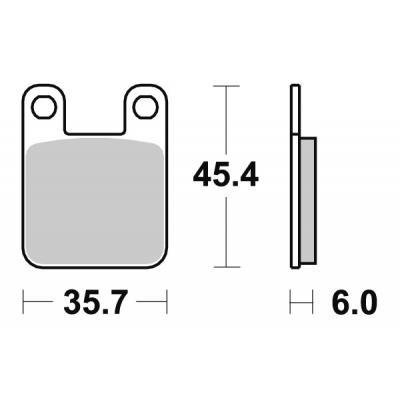 Plaquettes de frein SBS carbone tech 105CT