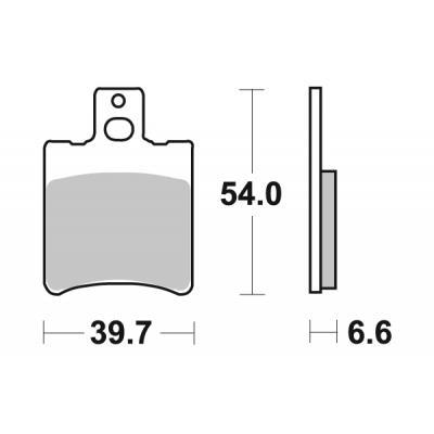 Plaquettes de frein SBS carbone tech 114CT