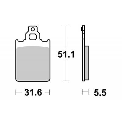 Plaquettes de frein SBS carbone tech 117CT