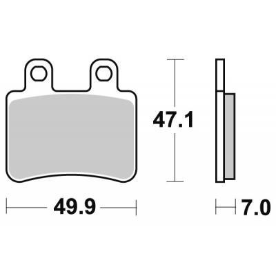 Plaquettes de frein SBS carbone tech 167CT