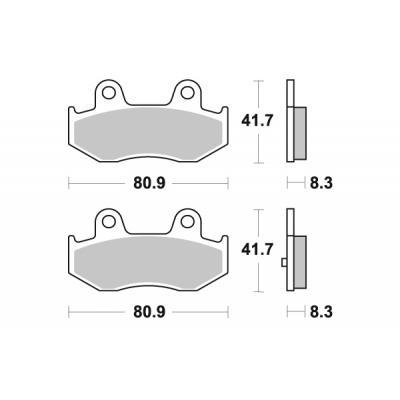 Plaquettes de frein SBS carbone tech 174CT