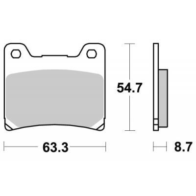 Plaquettes de frein SBS carbone tech 555RQ