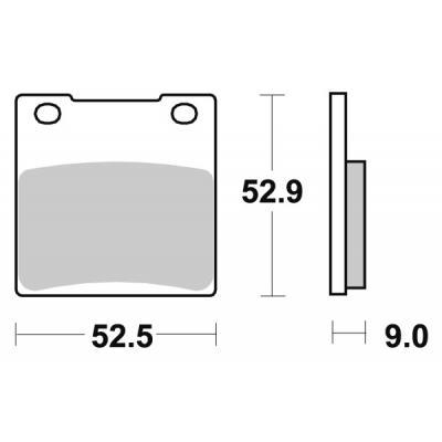 Plaquettes de frein SBS carbone tech 556RQ