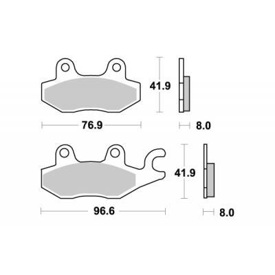 Plaquettes de frein SBS carbone tech 638RQ