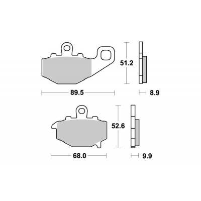 Plaquettes de frein SBS carbone tech 687RQ