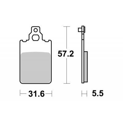 Plaquettes de frein SBS céramique 109HF