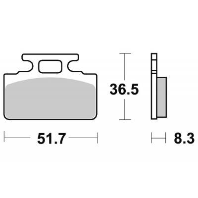 Plaquettes de frein SBS céramique 110HF