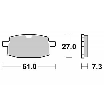 Plaquettes de frein SBS céramique 111HF