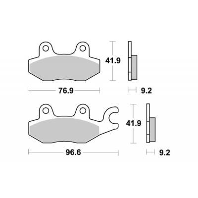 Plaquettes de frein SBS céramique 119HF
