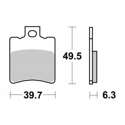 Plaquettes de frein SBS céramique 123HF