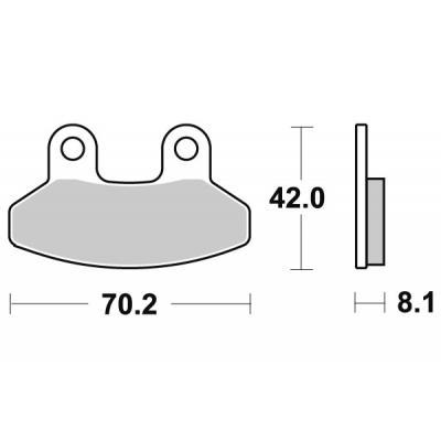 Plaquettes de frein SBS céramique 178HF