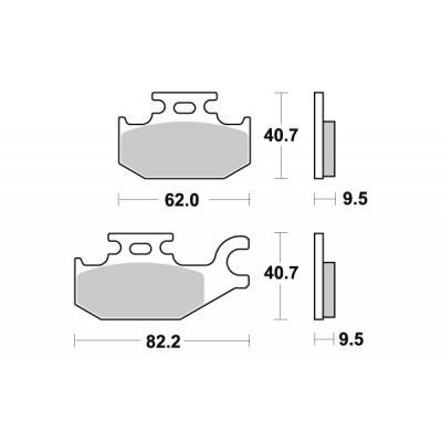 Plaquettes de frein SBS céramique 196HF