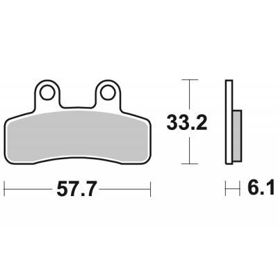 Plaquettes de frein SBS céramique 211HF