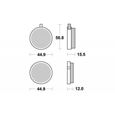 Plaquettes de frein SBS céramique 500HF
