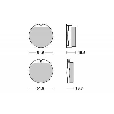Plaquettes de frein SBS céramique 501HF