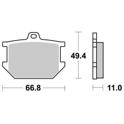 Plaquettes de frein SBS céramique 507HF