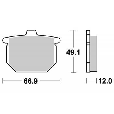 Plaquettes de frein SBS céramique 508HF