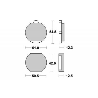 Plaquettes de frein SBS céramique 510HF