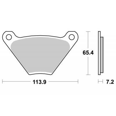 Plaquettes de frein SBS céramique 513H.HF