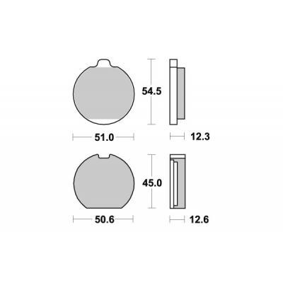 Plaquettes de frein SBS céramique 514HF