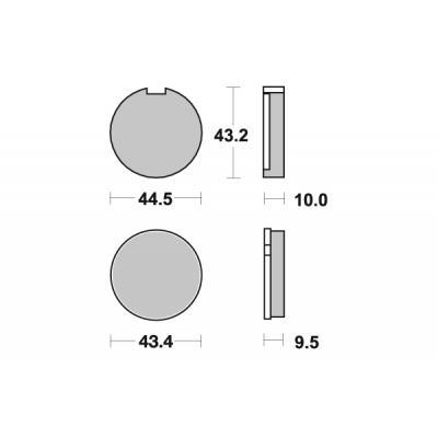 Plaquettes de frein SBS céramique 516HF