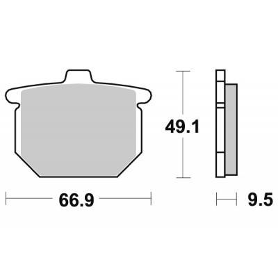 Plaquettes de frein SBS céramique 517HF