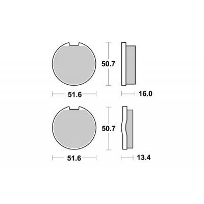 Plaquettes de frein SBS céramique 518HF