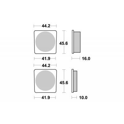 Plaquettes de frein SBS céramique 522HF