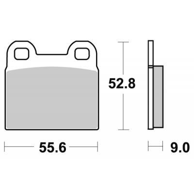 Plaquettes de frein SBS céramique 527HF