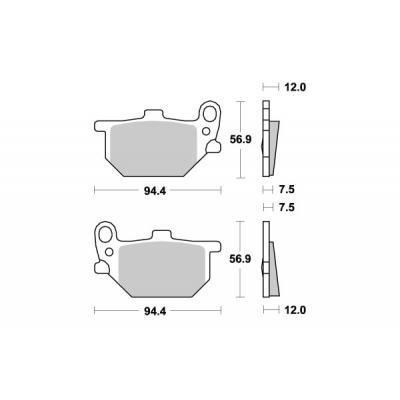 Plaquettes de frein SBS céramique 528HF