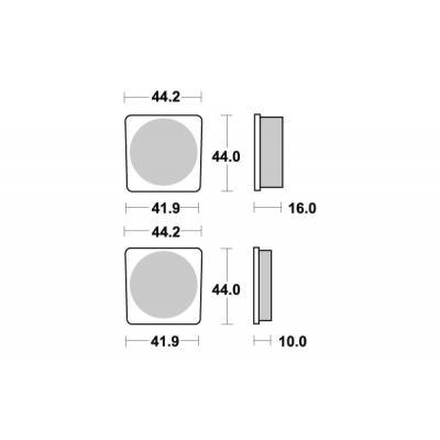 Plaquettes de frein SBS céramique 531HF