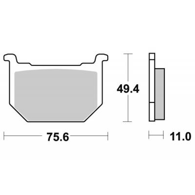 Plaquettes de frein SBS céramique 533HF