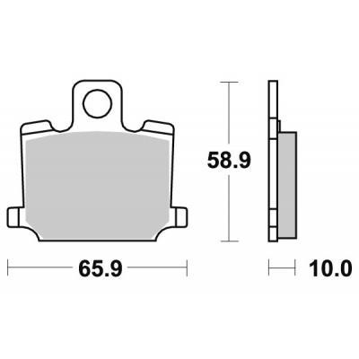 Plaquettes de frein SBS céramique 535HF