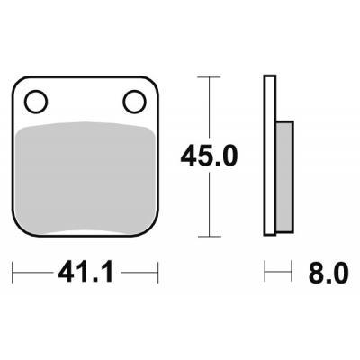 Plaquettes de frein SBS céramique 536HF