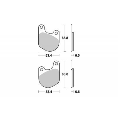 Plaquettes de frein SBS céramique 537H.HF