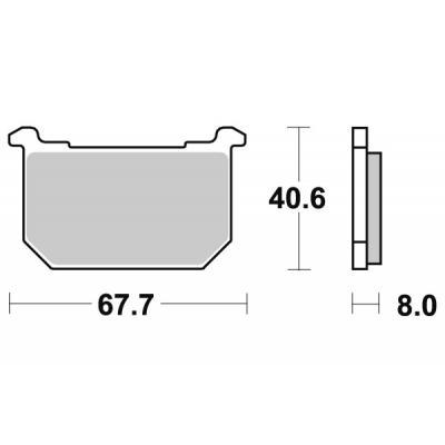 Plaquettes de frein SBS céramique 539HF