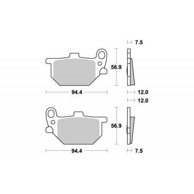 Plaquettes de frein SBS céramique 545HF