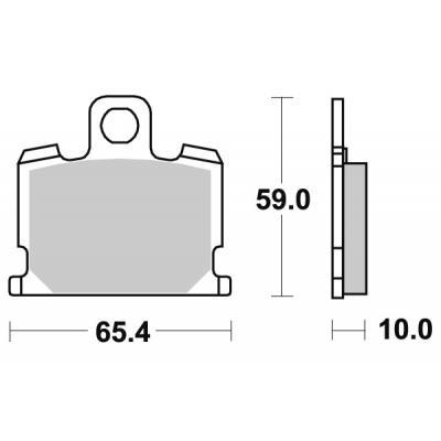 Plaquettes de frein SBS céramique 547HF