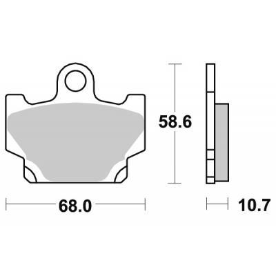 Plaquettes de frein SBS céramique 550HF