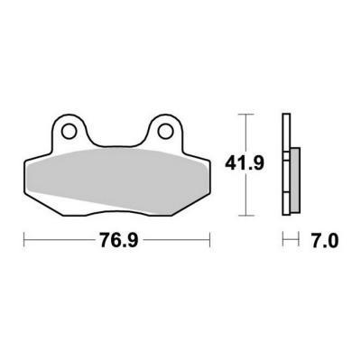 Plaquettes de frein SBS céramique 551HF