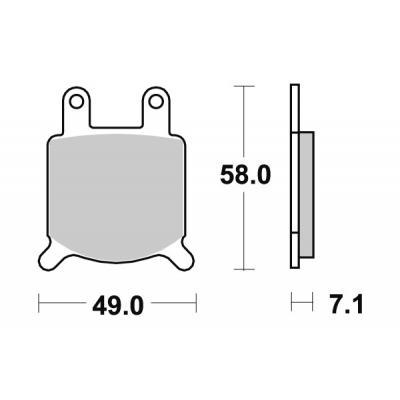 Plaquettes de frein SBS céramique 560HF