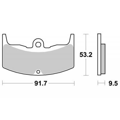 Plaquettes de frein SBS céramique 571HF