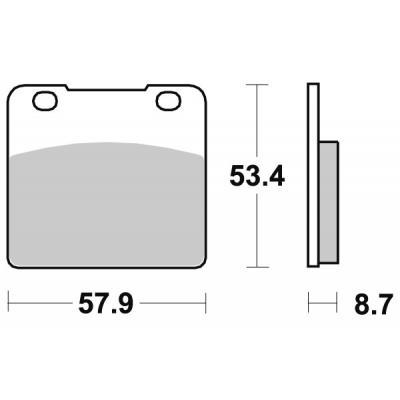 Plaquettes de frein SBS céramique 577HF