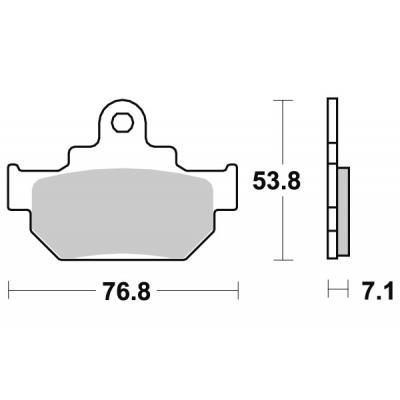 Plaquettes de frein SBS céramique 581HF