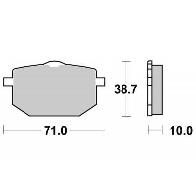 Plaquettes de frein SBS céramique 596HF