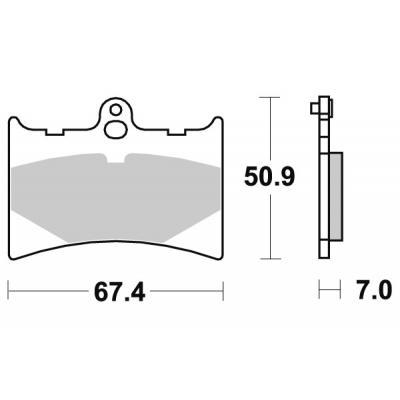Plaquettes de frein SBS céramique 601HF