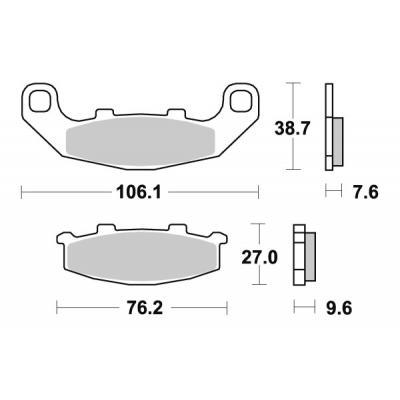 Plaquettes de frein SBS céramique 615HF